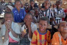 Boys in school in descent based communities in Niger