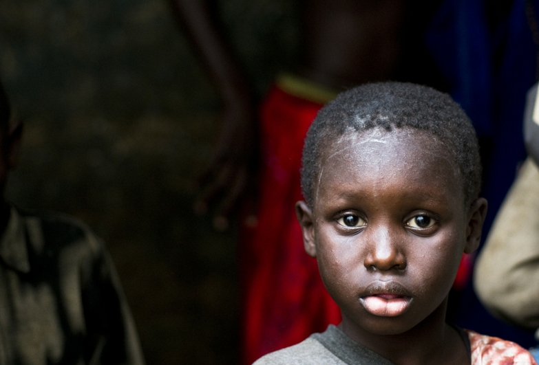 A young boy who is forced to beg in Senegal