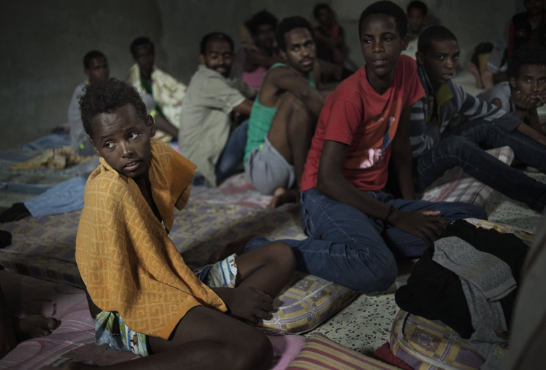 Child refugees in Libya are vulnerable to slavery