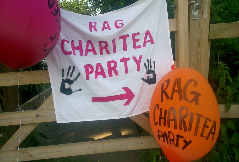 sign made for rag charity party