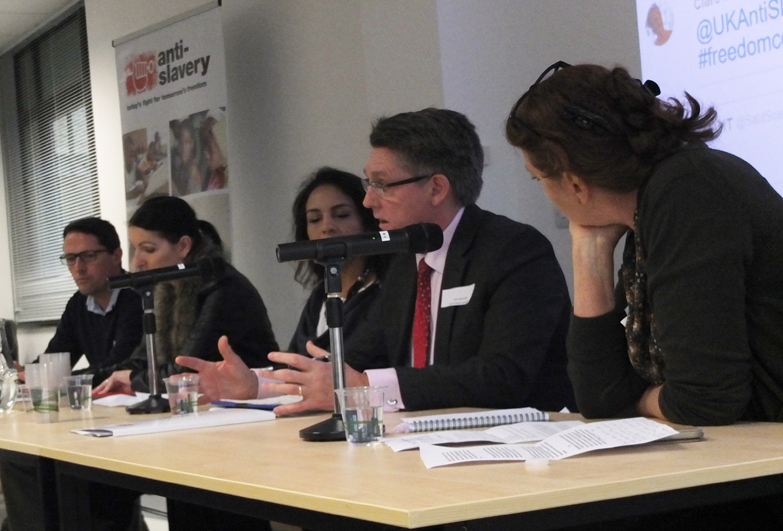 Discussion panel with Kevin Hyland, at Anti-Slavery Freedom Conference on 12th November 2016