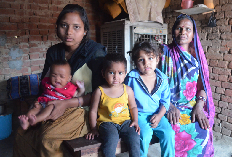 Indian family freed from debt bondage in brick kiln