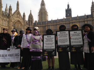 domestic workers slavery protest at parliament