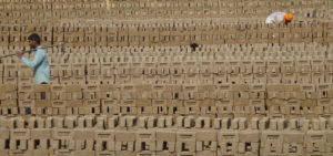 workers in indian brick kiln