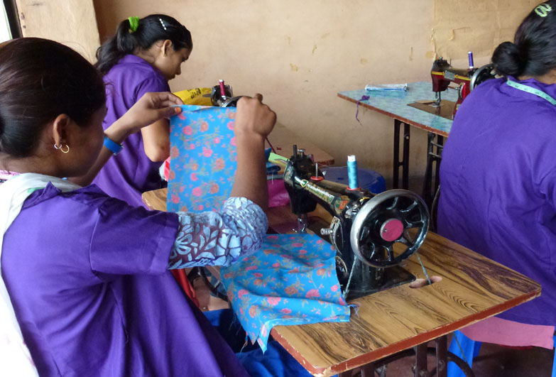 Tailoring classes in Nepal