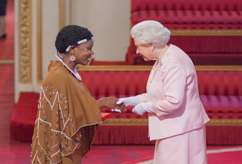 Angel Benedicto, former child domestic worker form Tanzania, recognised by the Queen with a Young Leader Award.