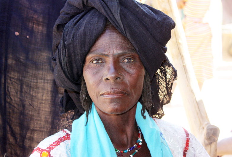 Tatinatt who was born into slavery in Niger but now is free and her children go to school
