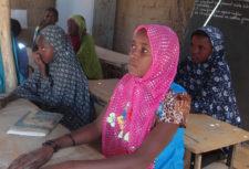 Girl in school in Niger