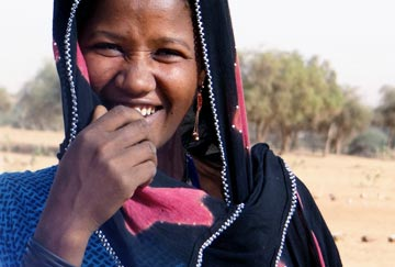 Niger descent based slavery woman smiling