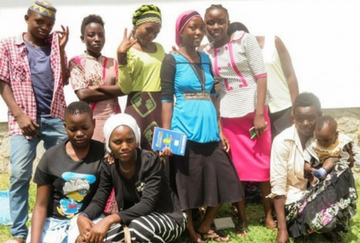 Children who benefited from Anti-Slavery project in Tanzania