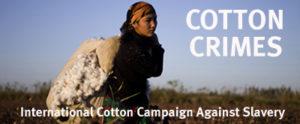 poster for campaign agaisnt criminal cotton harvest