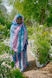 mauritanian woman freed from descent based slavery, gardener and member of SOS-Esclaves