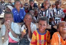 Children affected by slavery in Niger school