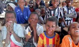 Children affected by slavery in Niger school