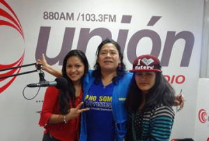 Child domestic workers on radio in Peru