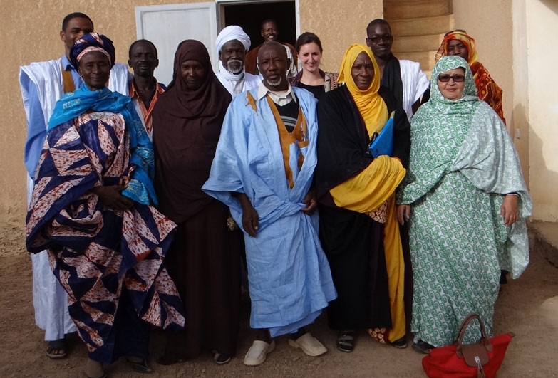 Team supporting victims of slavery in Mauritania