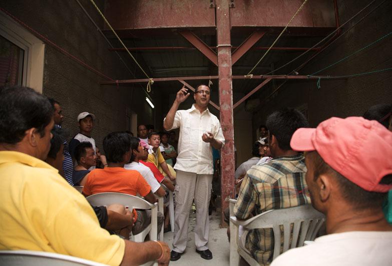 Nepali workers meeting in Bahrain