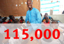 115000 people benefited from Anti-Slavery projects