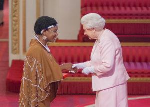 Angel Benedicto meeting the Queen