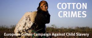 uzbekistan cotton crimes, poster of the european cotton campaign against child slavery