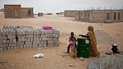 woman and children in Mauritania