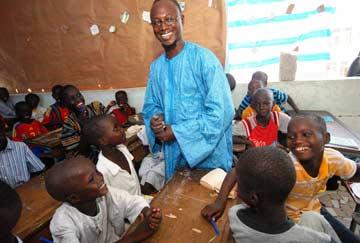 Children in Senegal school