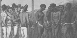 image of Slave market in West Indies in 18th century
