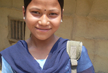 Sumitra, daughter of bonded labourers in Nepal