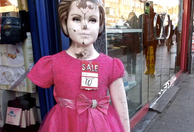 Doll with a price tag - photo taken by a trafficked woman