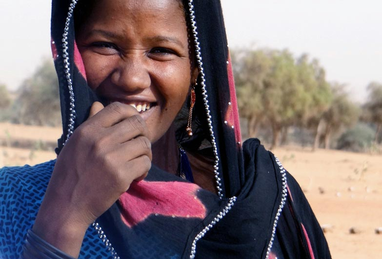Niger descent based slavery woman smiling