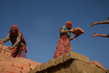Bonded labour in India's brick kilns