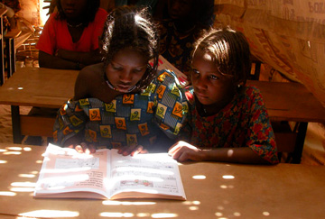 Girls affected by slavery in school in Niger