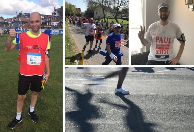 Paul Henty training for and running the London Marathon
