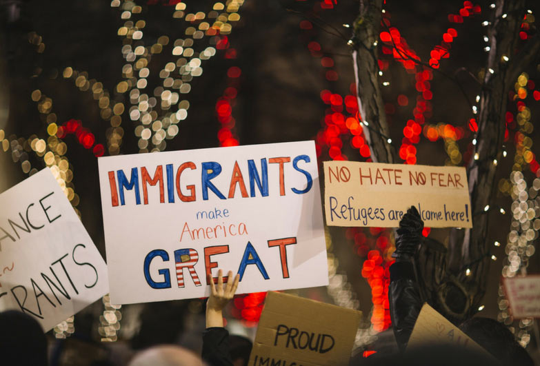 Protest against Trump's migration policies