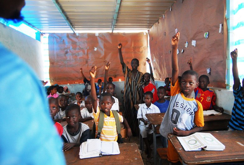 children at school in Senegal