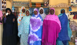 Women in shop Mauritania