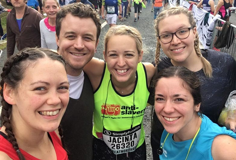 Runners at start line of Great North Run
