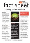 fact sheet about slavery and what we buy