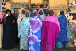 women in shop in mauritania