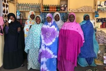 Women of slave descent in their shop in Mauritania