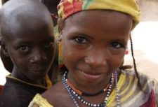 children of slave descent in Niger smiling